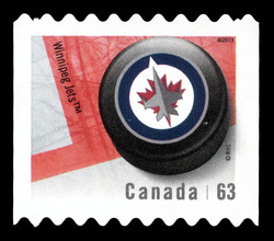 Winnipeg Jets Canada Postage Stamp | NHL Canadian Team Pucks
