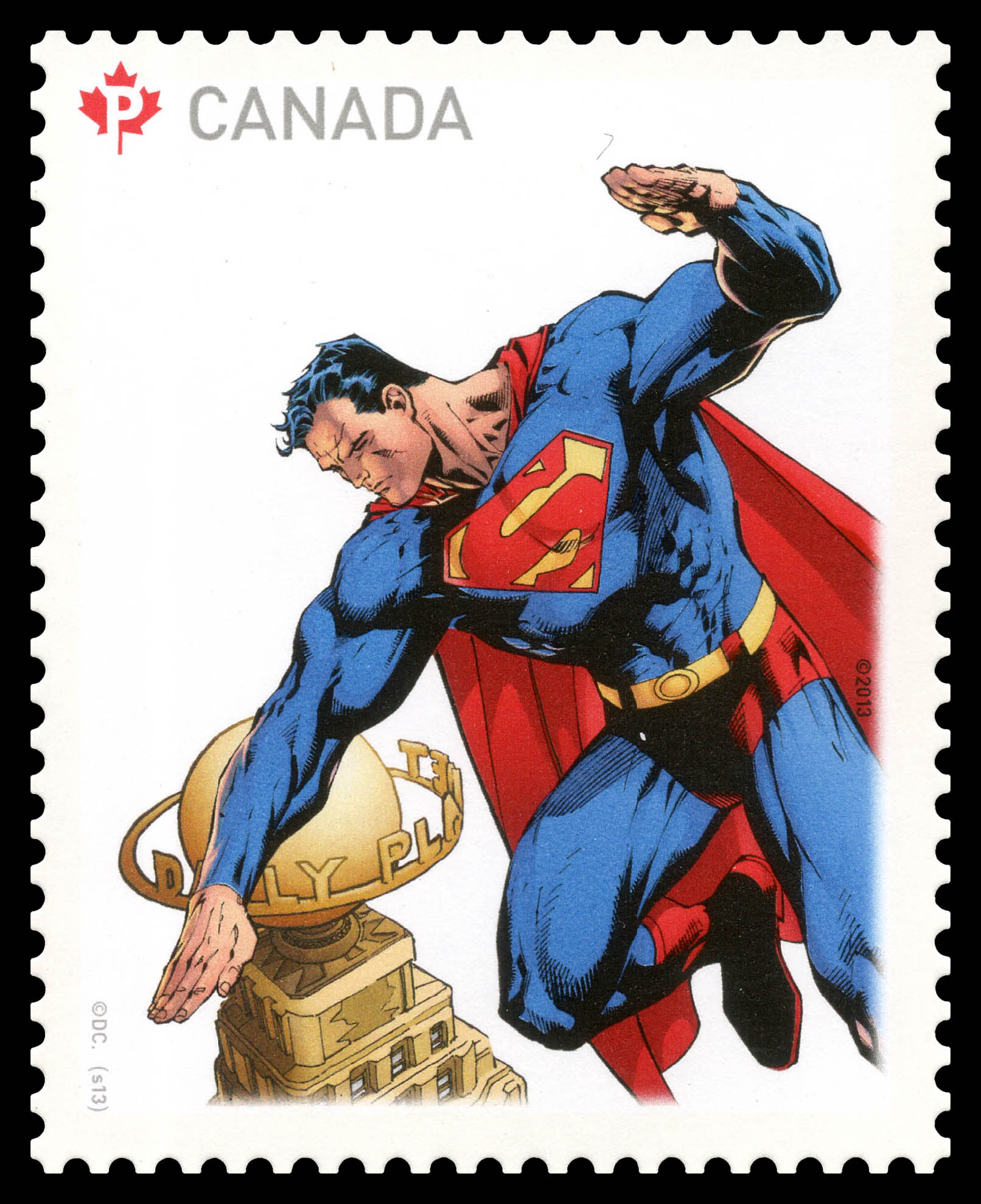 Superman and the Daily Planet Canada Postage Stamp