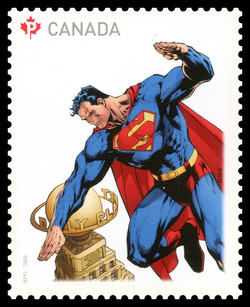 Superman and the Daily Planet Canada Postage Stamp | Superman - 75th Anniversary