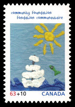 Floating Adrift - Canada Post Community Foundation Canada Postage Stamp