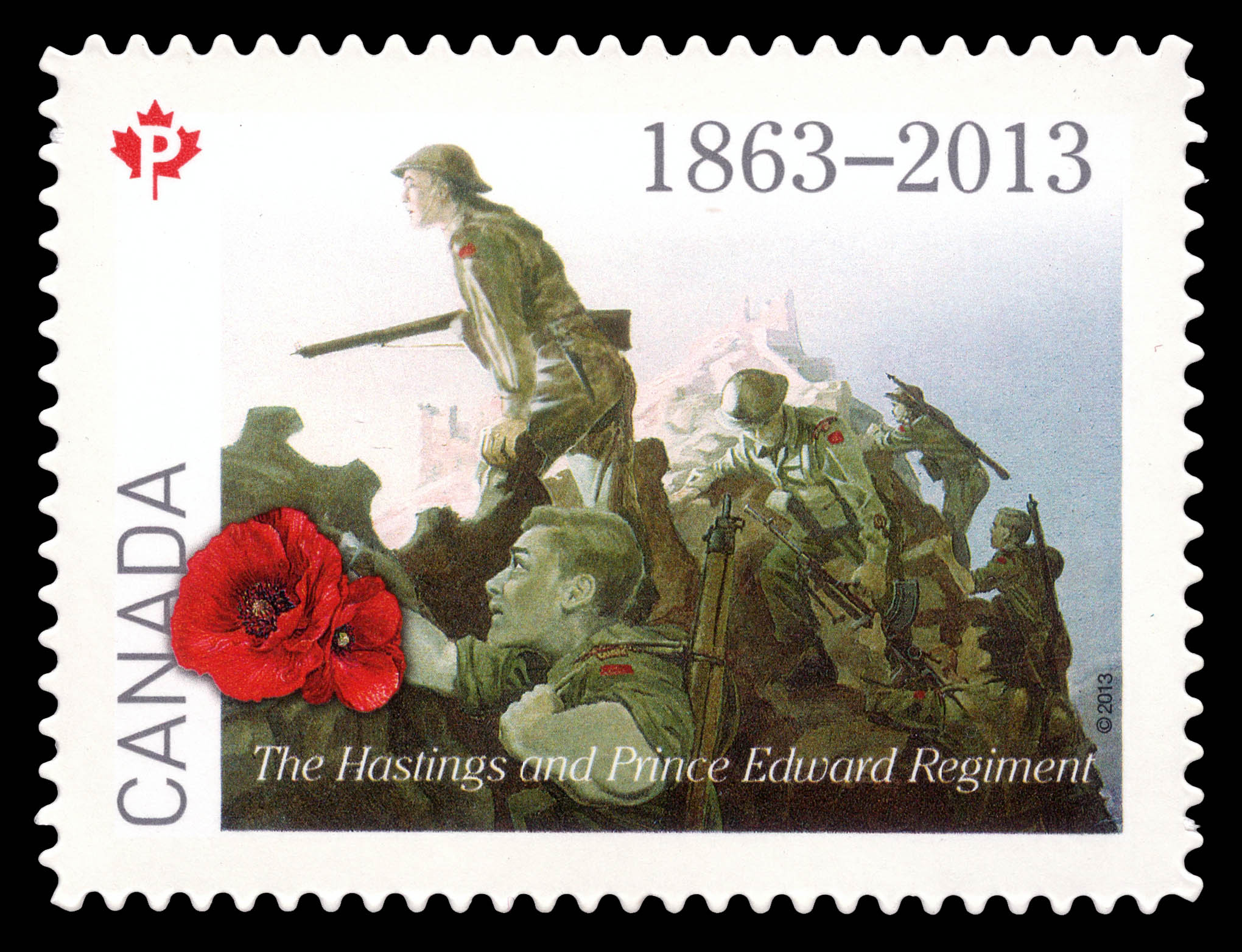 The Hastings and Prince Edward Regiment Canada Postage Stamp