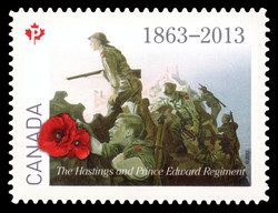 The Hastings and Prince Edward Regiment Canada Postage Stamp | The Regiments
