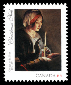 Christmas: Saint Anne with the Christ Child Canada Postage Stamp