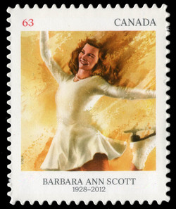 Barbara Ann Scott Canada Postage Stamp | Pioneers of Winter Sports
