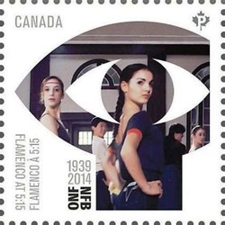 """Flamenco at 5:15"" (1983) by Cynthia Scott Canada Postage Stamp 
