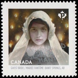 Ghost Bride of the Fairmont Banff Springs Hotel Canada Postage Stamp | Haunted Canada