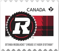 Ottawa Redblacks Canada Postage Stamp | CFL Teams