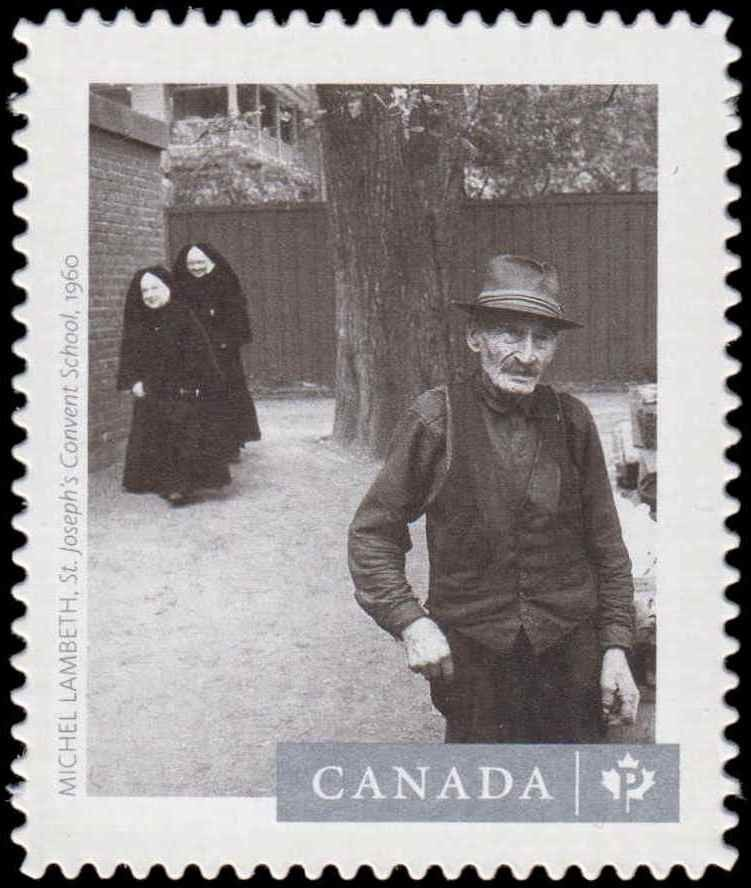"""Michel Lambeth's """"St. Joseph's Convent School"""" (1960) Canada Postage Stamp 