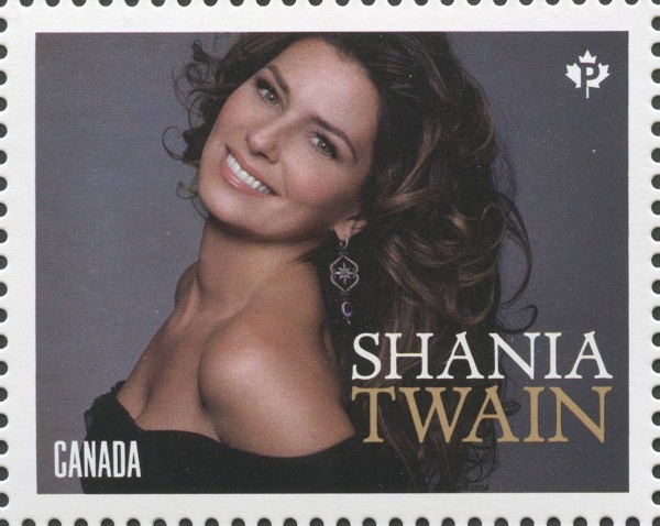 Shania Twain Canada Postage Stamp | Canadian Country Artists
