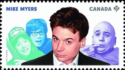 Mike Myers Canada Postage Stamp | Great Canadian Comedians