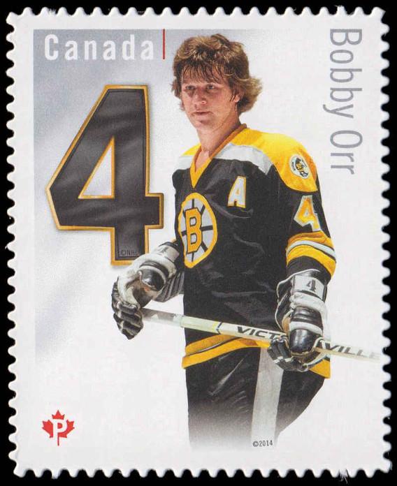 Bobby Orr - Boston Bruins Canada Postage Stamp | Original Six™