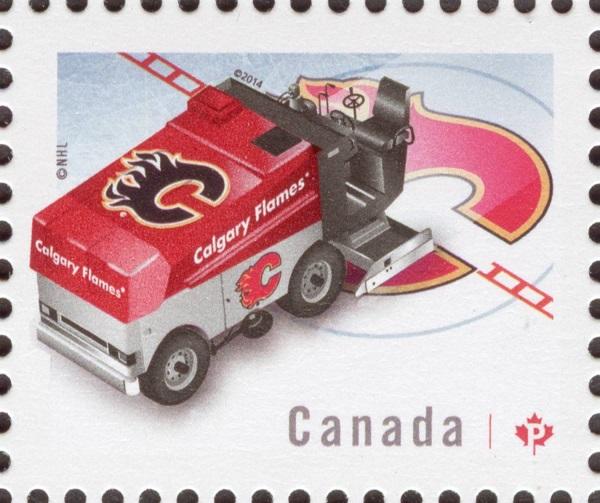 NHL® Zamboni® - Calgary Flames Canada Postage Stamp | NHL Zambonis