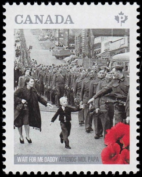 Wait for Me Daddy Canada Postage Stamp