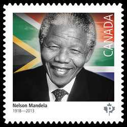 Black History - Nelson Mandela Canada Postage Stamp | Black History Month