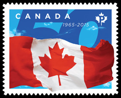 50th Anniversary of Canada's Flag Canada Postage Stamp