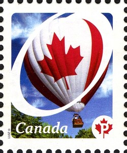Hot Air Balloon - Canadian Pride Canada Postage Stamp | Canadian Pride - Definitives