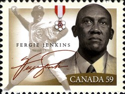Fergie Jenkins Canada Postage Stamp | Black History Month