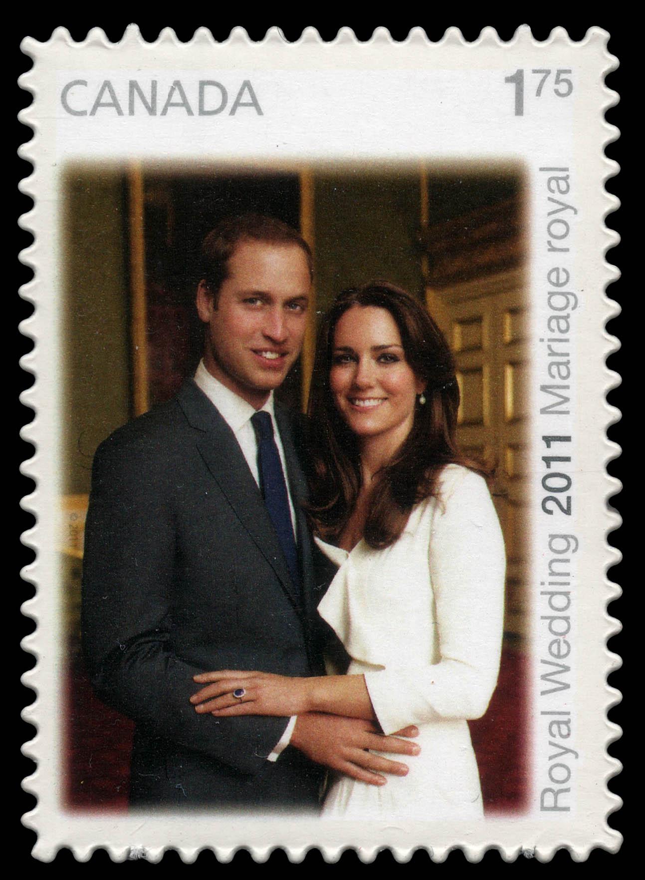 Royal Wedding 2011 - Engagement Canada Postage Stamp | The Royal Wedding