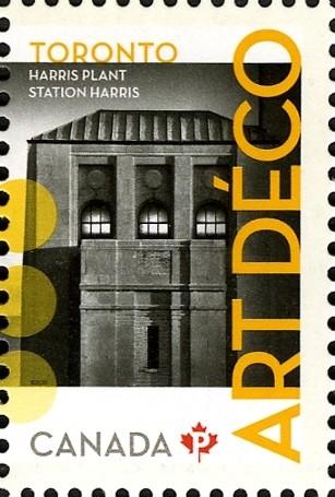 Harris Plant: Art Deco Canada Postage Stamp   Architecture - Art Deco
