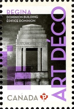 Dominion Building: Art Deco Canada Postage Stamp | Architecture - Art Deco