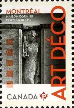 Cormier House: Art Deco Canada Postage Stamp | Architecture - Art Deco