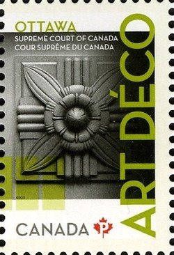 Supreme Court of Canada: Art Deco Canada Postage Stamp | Architecture - Art Deco