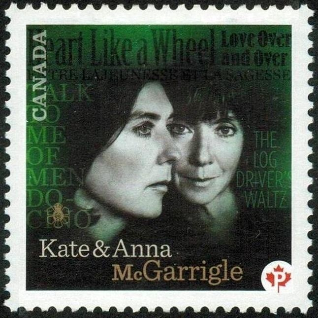 Kate and Anna McGarrigle Canada Postage Stamp