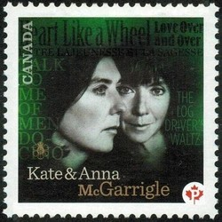 Kate and Anna McGarrigle Canada Postage Stamp | Canadian Recording Artists