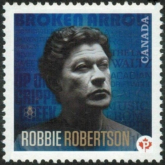 Robbie Robertson Canada Postage Stamp | Canadian Recording Artists