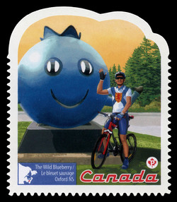 The Wild Blueberry - Oxford NS Canada Postage Stamp   Roadside Attractions