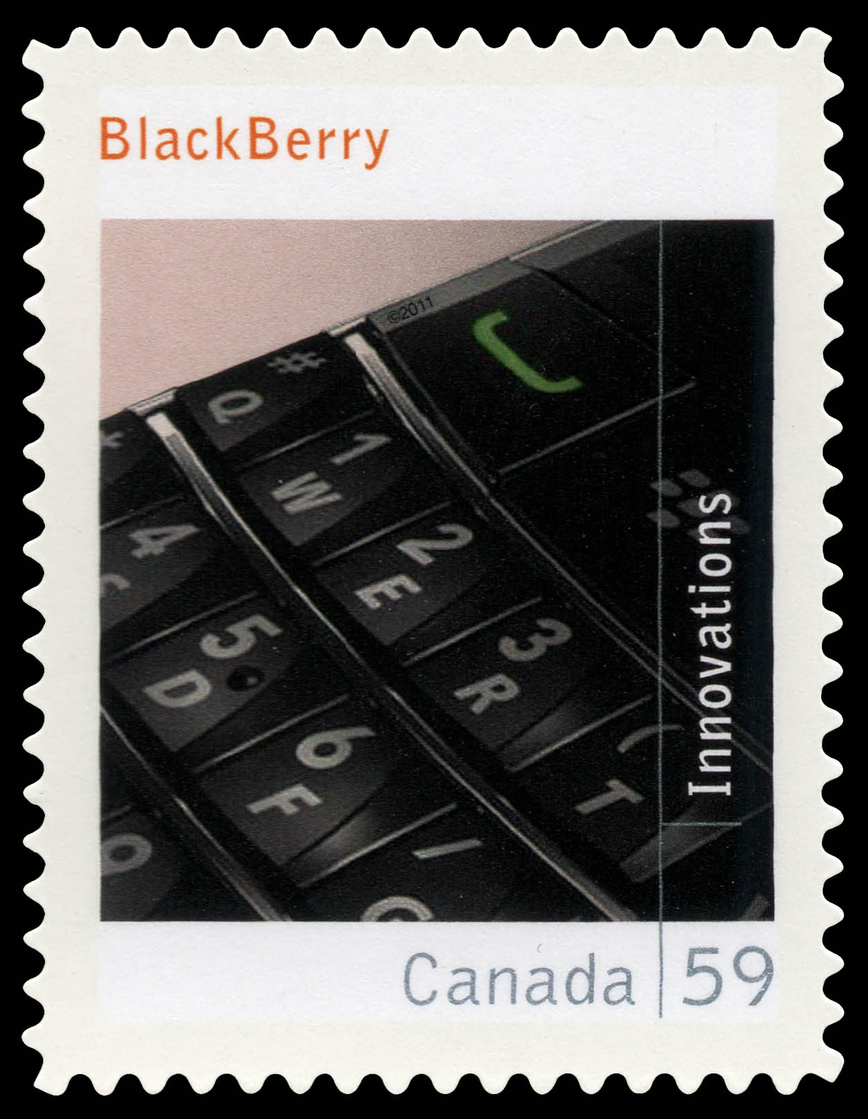 Blackberry Canada Postage Stamp | Canadian Innovations