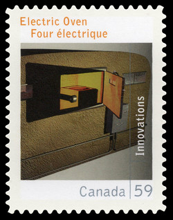 Electric Oven Canada Postage Stamp | Canadian Innovations