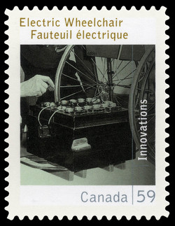 Electric Wheelchair Canada Postage Stamp | Canadian Innovations