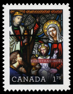 Christmas – Stained Glass Canada Postage Stamp | Christmas 2011