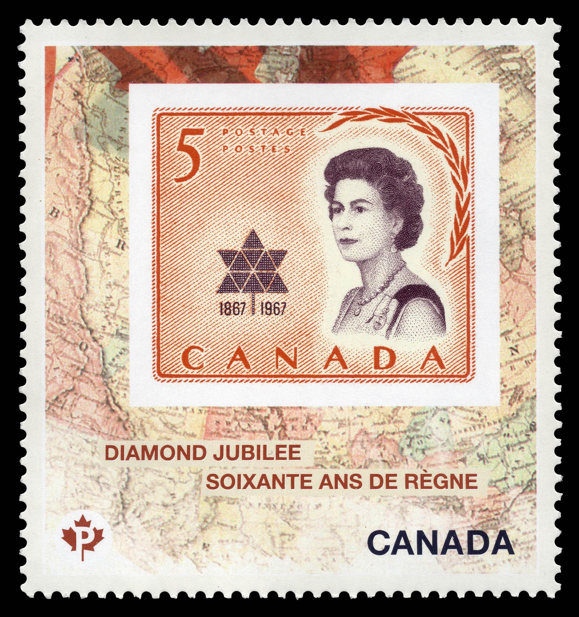 Queen Elizabeth II Diamond Jubilee - 1967 Stamp Canada Postage Stamp | Queen Elizabeth II Diamond Jubilee