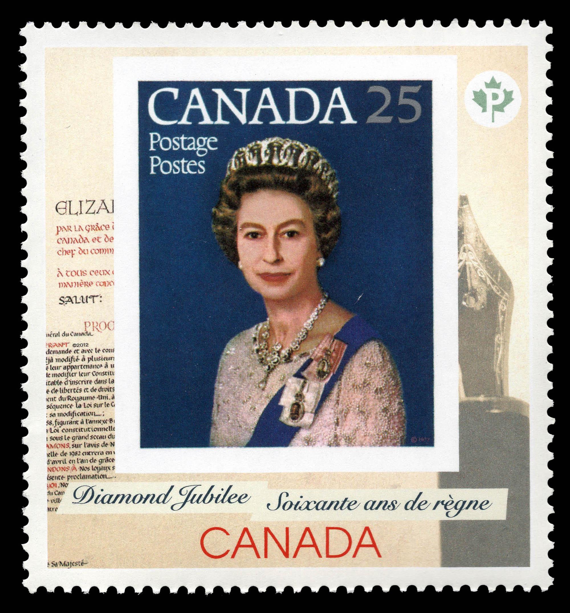 Queen Elizabeth II Diamond Jubilee - 1977 Stamp Canada Postage Stamp | Queen Elizabeth II Diamond Jubilee