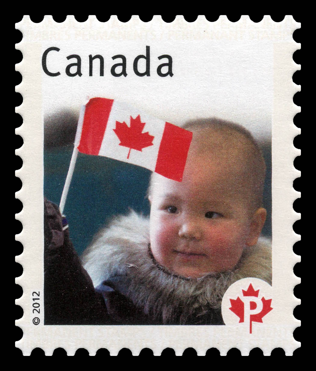 Young Child with Flag - Canadian Pride  Canada Postage Stamp | Canadian Pride - Definitives