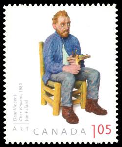 Dear Vincent - Joe Fafard Canada Postage Stamp | Art Canada
