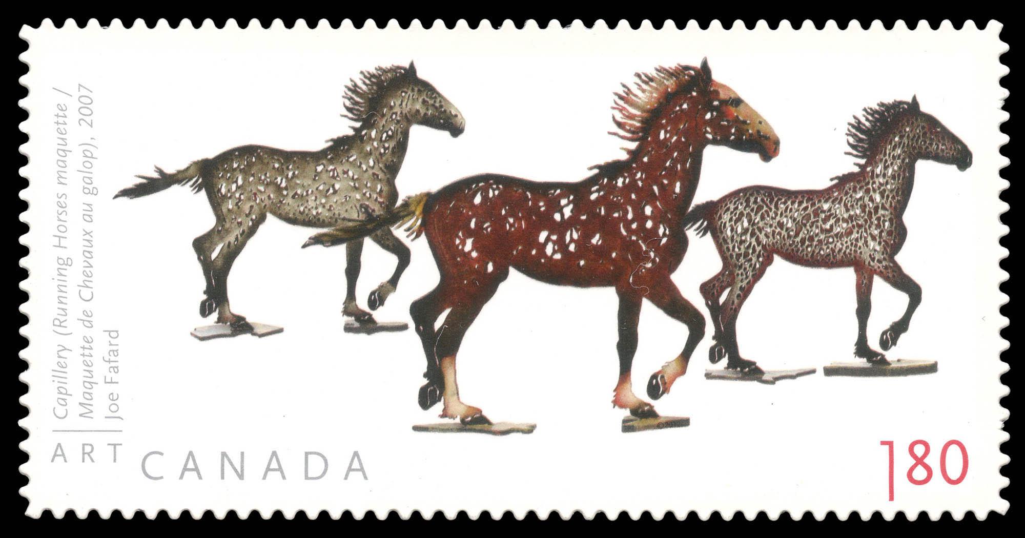 Capillery (Running Horses Maquette) - Joe Fafard Canada Postage Stamp | Art Canada