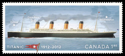 Titanic 1912-2012 Canada Postage Stamp   Centennial of the Sinking of the Titanic