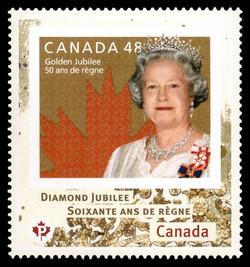 Queen Elizabeth II Diamond Jubilee - 2002 Stamp Canada Postage Stamp | Queen Elizabeth II Diamond Jubilee