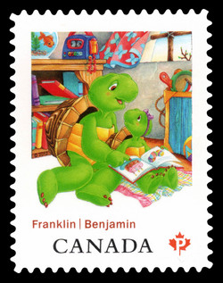 Franklin and Harriet Canada Postage Stamp | Franklin the Turtle - Children's Literature