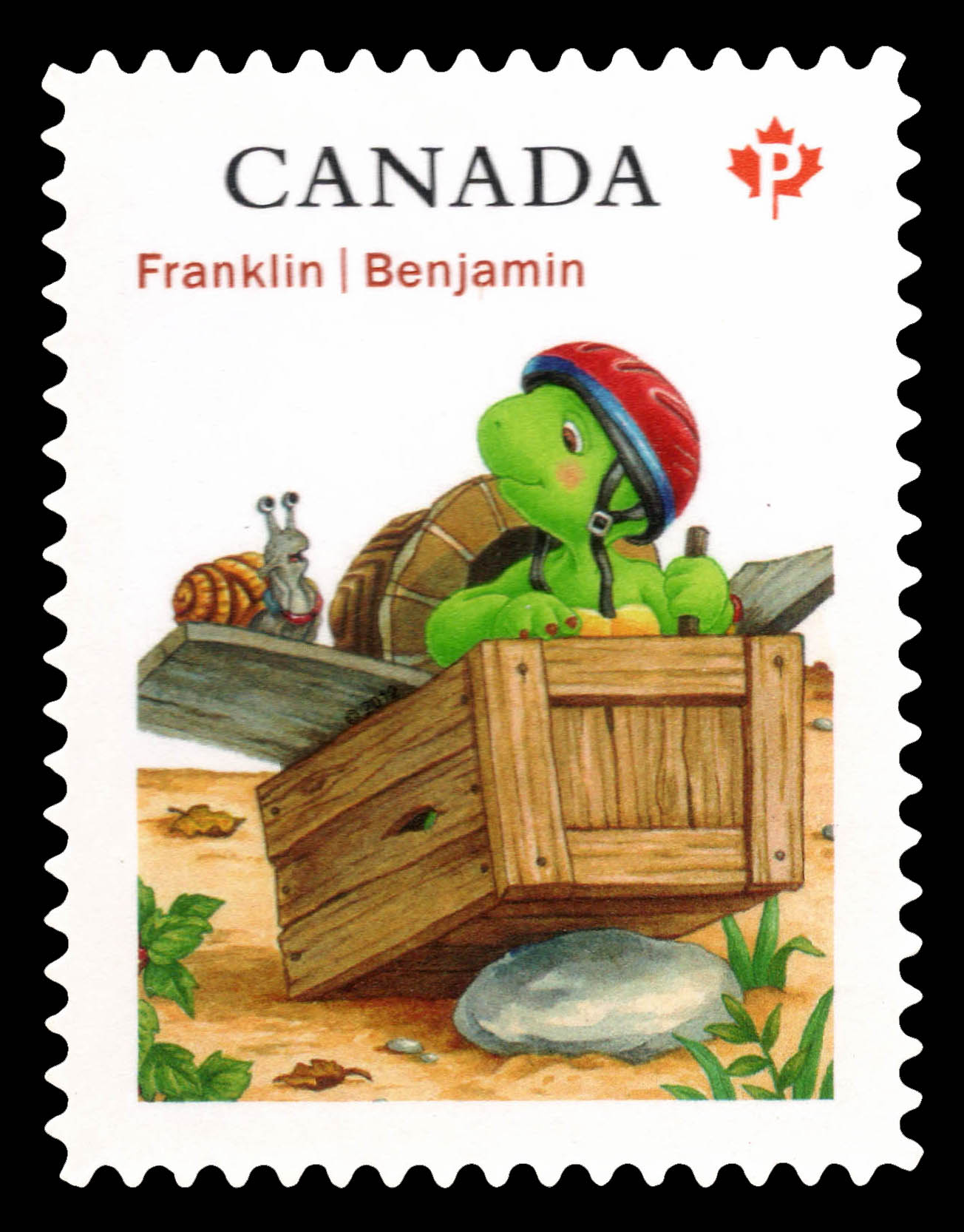 Franklin and Snail Canada Postage Stamp | Franklin the Turtle - Children's Literature