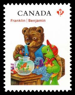 Franklin and Bear Canada Postage Stamp   Franklin the Turtle - Children's Literature