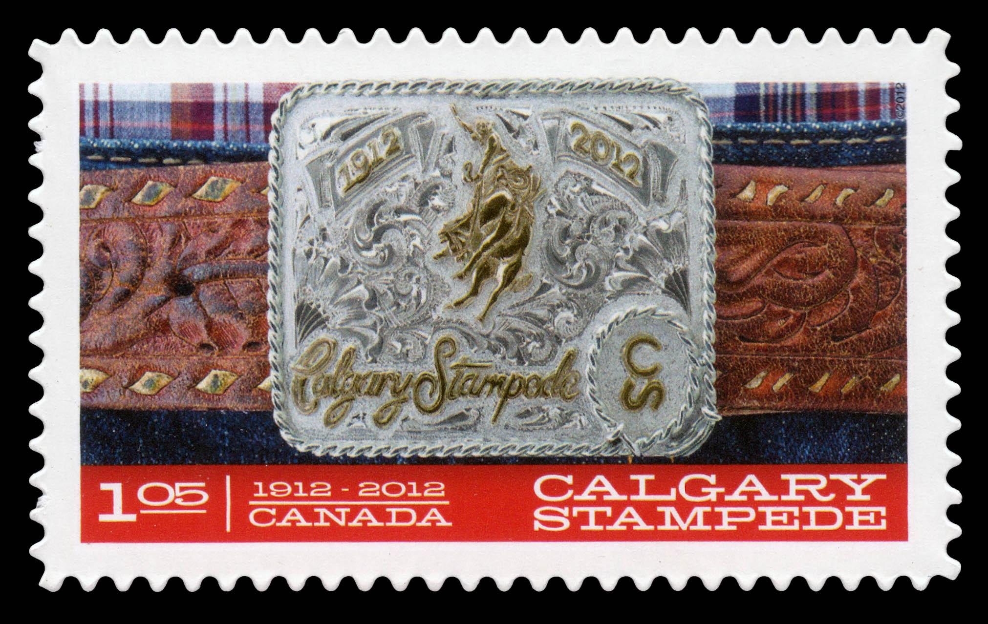 Belt Buckle: Calgary Stampede Canada Postage Stamp | Calgary Stampede - 100th Anniversary