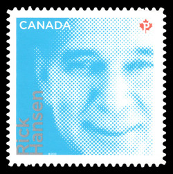 Rick Hansen Canada Postage Stamp   Difference Makers