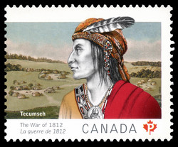War Chief Tecumseh Canada Postage Stamp | The War of 1812