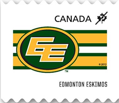 Edmonton Eskimos Canada Postage Stamp   CFL Teams
