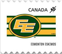 Edmonton Eskimos Canada Postage Stamp | CFL Teams