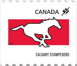 Calgary Stampeders Canada Postage Stamp | CFL Teams